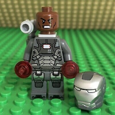 LEGO Marvel Super Heroes War Machine Minifigure Silver Iron Man Avengers - sh066