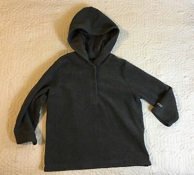 Abercrombie And Fitch Jacket Boys Size Large Pullover Dark Gray Hood Long Sleeve