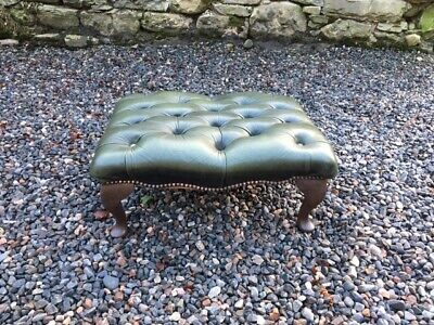 Vintage Chesterfield Style Foot Stool
