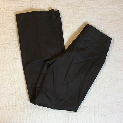 Chicos Brown Dress Pants Women Size 0, 30 Waist Stretch Boot Cotton Spandex
