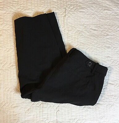 Cato Black Capris Pants Women's Size 8, 32 Waist Stretch Polyester Blend Casual