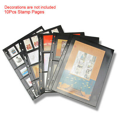 10pcs/lot Stamp Pages PVC Inners Album Double Sided Lines Loose Leaf Collection