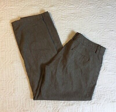 Lee Brown Pants Women Size 12 Medium, 34 Waist Relaxed Fit Stretch Casual