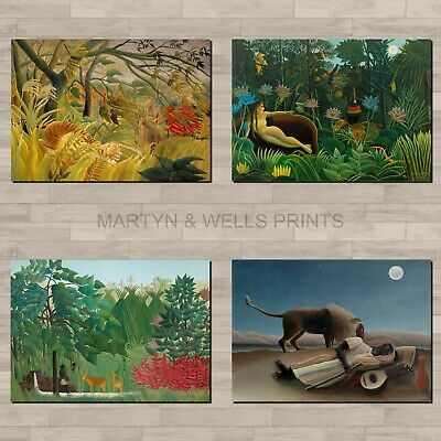 Canvas Paper A4 or A3 Matt Glossy LAC DAUMESNILL by Henri Rousseau