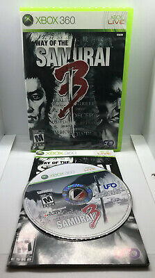 Way of the Samurai 3 - Complete - Tested & Works - Good Cond. - Xbox 360