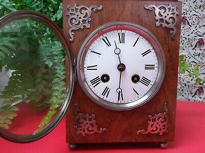 ANTIQUE FRENCH WALNUT CARRIAGE CLOCK by JAPY FRERES working