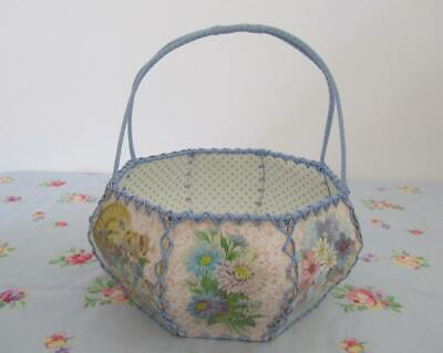 Prettiest Vintage Handmade Card Craft Basket Shopping Home Décor Sewing Knitting