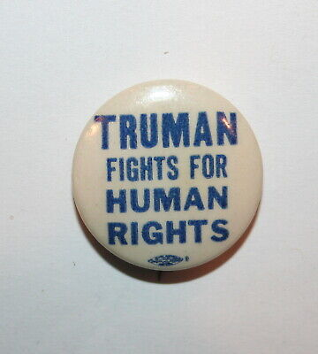 1948 Harry Truman President Campaign Button Political Pinback Pin Election