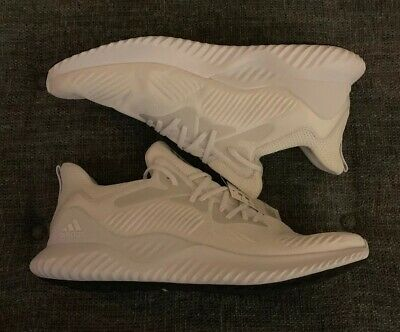 Nwob Adidas Alphabounce Beyond Running Shoes Mens Size 18 White Gray Continental