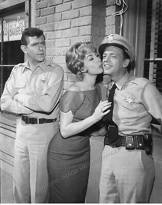 8 x 10 Andy Griffith, Don Knotts, Barbara Eden. Ultra Premium Glossy Print.