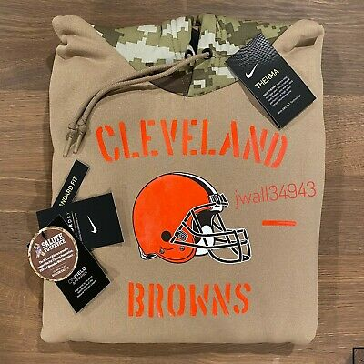 Authentic Nike Mens Cleveland Browns 2019 NFL Salute to Service Tan Hoodie