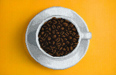 MINC99002 - Miniart Crafts - Coffee Cup Bead Embroidery Kit