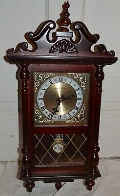 Daniel Dakota Quartz Pendulum Westminster Chime Wall Clock Battery Operated