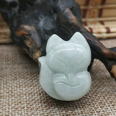 Chinese Hand-carved aristocratic wearing Jadeite jade pendant (Jade Buddha)