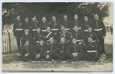 1905/6 Rp Npu Postcard Soldiers Victorian  Militia Group Medals Uniforms H95