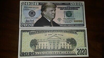 Fantasy PRESIDENT DONALD TRUMP 2020 Dollar Bill Funny Money Collectible