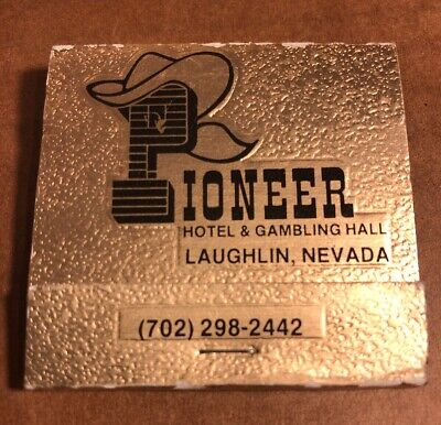 Pioneer Hotel & Gambling Hall Collectible Matchbook, Laughlin, Nevada