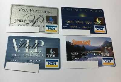 4 Expired Credit Cards For Collectors - Visa Random Collection Pulls Lot (7053)