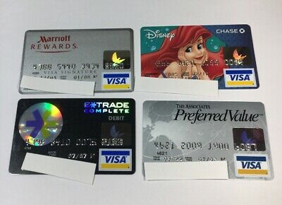 4 Expired Credit Cards For Collectors - Visa Random Collection Pulls Lot (7055)