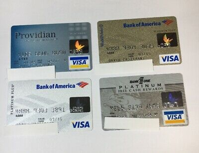 4 Expired Credit Cards For Collectors - Visa Random Collection Pulls Lot (7059)