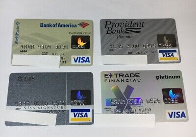 4 Expired Credit Cards For Collectors - Visa Random Collection Pulls Lot (7061)