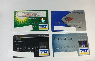 4 Expired Credit Cards For Collectors - Visa Random Collection Pulls Lot (7064)