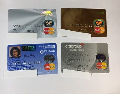 4 Expired Credit Cards For Collectors - MasterCard Collection Lot (7077)