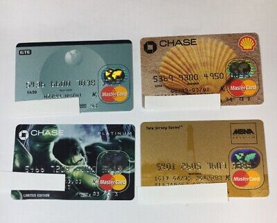 4 Expired Credit Cards For Collectors - MasterCard Collection Lot (7078)