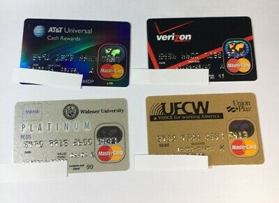4 Expired Credit Cards For Collectors - MasterCard Collection Lot (7079)