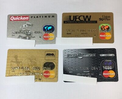 4 Expired Credit Cards For Collectors - MasterCard Collection Lot (7080)