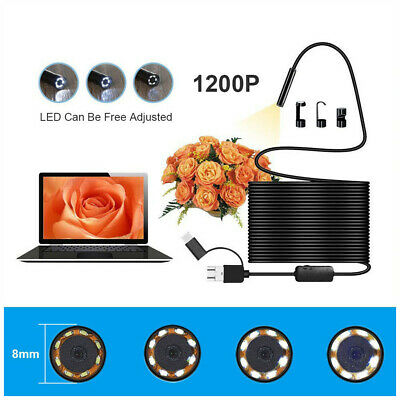 8-LED WiFi Endoscope Borescope Inspection HD Camera IP68 For iOS Android PC 1Pc