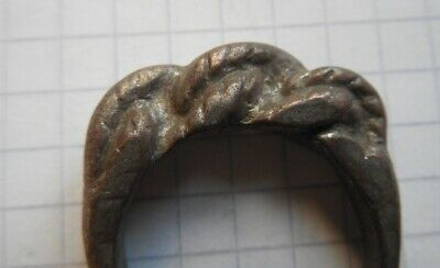 Viking period silver whole massive psevdo-twisted ring, American Size 11-