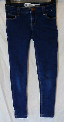Boys Primark Dark Blue Denim Adjustable Waist Skinny Stretch Jeans Age 6-7 Years