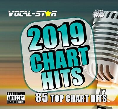 Vocal-Star 2019 Karaoke Chart Hits 85 Songs Cdg Cd+G 4 Disc Set A