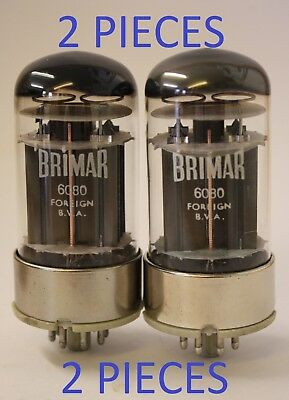 6080 Brimar BVA logo 2 pieces matched appearance NOS tube valve
