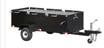 BBQ Pit grill smoker trailer cooker catering Sling 'N' Steel Custom Smokers