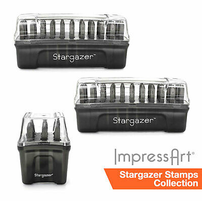 ImpressArt 2mm Stargazer Font 75 pc. Full Stamp Collection for Stamping