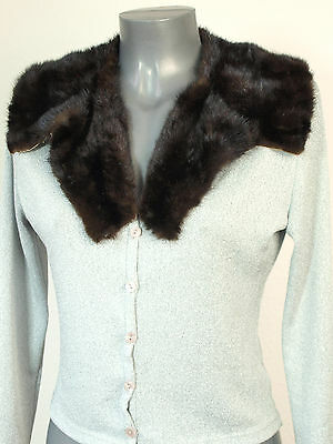 Collar Mink Reverse Vintage Mink fur fur Sew Handcrafts Dark Brown Black Brown