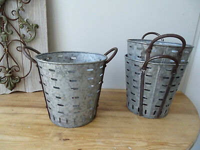 OB001 Small Oliveneimer~Iron~Olivenkorb ~Olive Bucket~ Washtub