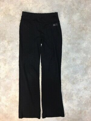 Justice Girls Black Polyester Stretch Activewear Yoga Pants Sz 10