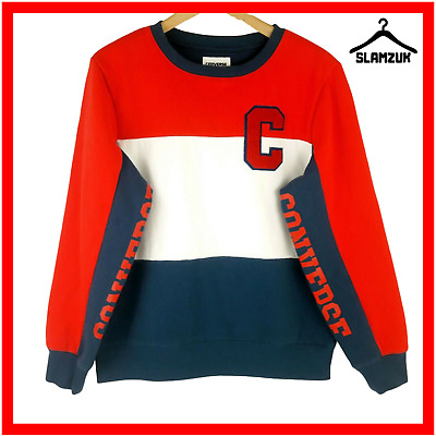 Converse Boys Unisex Jumper Sweater XL 13-15 Years Striped Pullover Blue Red