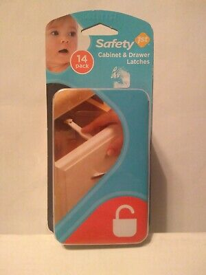 New Safety 1st NIP White Cabinet and Drawer Latches  14-Pack Package