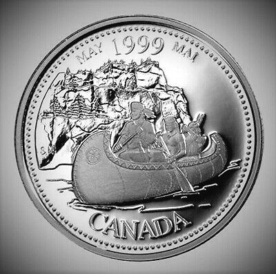1999 Canada Millennium Series May 25 Cents *Proof Like* Quarter!!