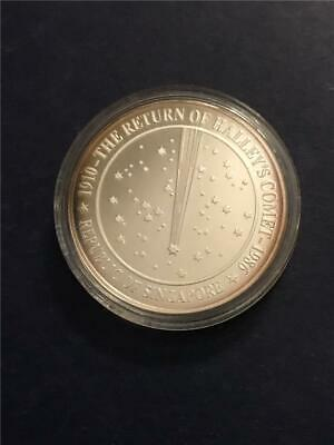 1986 Singapore 'Halley's Comet' .999 Proof Medal