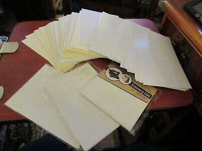 Bundle Of 233 Sheets A5 White & Cream Cardstock – Various Weights & Finishes