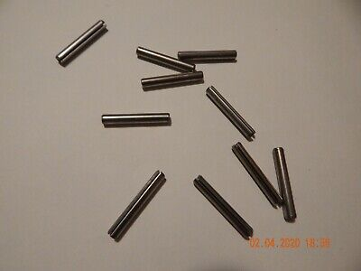 """STAINLESS STEEL ROLL PINS   7/32 x 1 1/2""""   18-8  10 PCS.  NEW"""