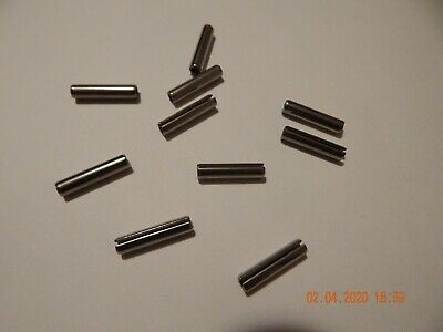 "STAINLESS STEEL ROLL PINS 7/32 x 1""  18-8  10 PCS. NEW"