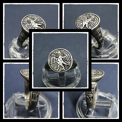 ** EAGLE **ancient SILVER  BYZANTINE or MEDIEVAL RING ! 6,27g