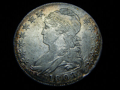 1808 50C Capped Bust Half Dollar VF++, Great Coin!