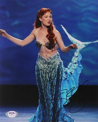Disney The Little Mermaid  the Musical Ariel Signed by Sierra Boggess 8 x 10 PSA
